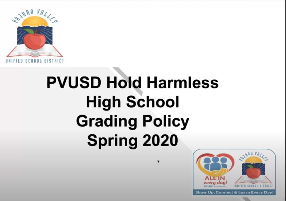 PVUSD Hold Harmless Grading
