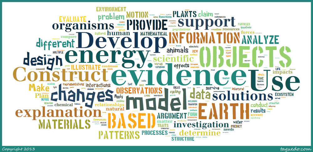 NGSS word cloud